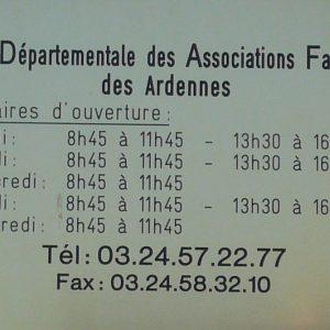 Horaires - UDAF 08 - Union départementale des associations familiales des Ardennes