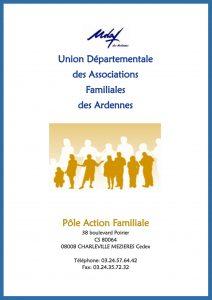 Plaquette pôle action familiale - UDAF des Ardennes