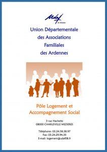 Plaquette pôle logement et accompagnement social - UDAF des Ardennes